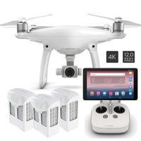 "DJI Phantom 4 + Two Batteries & 10"" Tablet"