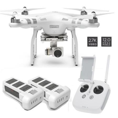 DJI Phantom 3 Advanced 2.7K Camera Drone + Extra Battery