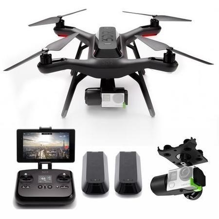 3DR Solo GoPro Camera Drone + 3-Axis Gimbal & Extra Battery