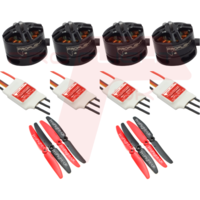 Racing Drone Power Bundle With 1806 2300KV Motors, 12A SimonK ESCs & GemFan 5030 5x3 Props