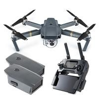 DJI Mavic Pro Ready To Fly 4K UHD Foldable Camera Drone With Three Axis Gimbal Smart GPS Flight Modes Return To Home Object Tracking & Collision Avoidance + Extra Battery