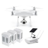 DJI Phantom 4 Pro Plus Ready To Fly 4K Camera Drone With 3-Axis Gimbal Smart GPS Flight Modes Return To Home Object Tracking Collision Avoidance & DJI GO Touchscreen Monitor + Two Extra Batteries