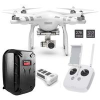 DJI Phantom 3 Advanced Ready To Fly 2.7K QHD Camera Drone With 3 Axis Gimbal, Smart GPS Flight Modes & Return To Home + ProFlight Ultimate Hardshell Drone Backpack