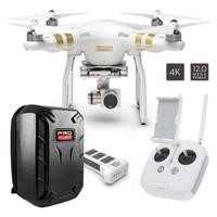 DJI Phantom 3 Professional Ready To Fly 4K UHD Camera Drone With 3 Axis Gimbal, Smart GPS Flight Modes & Return To Home + ProFlight Ultimate Hardshell Drone Backpack