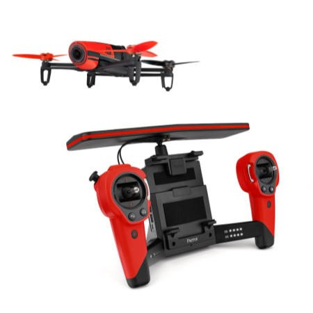Parrot BeBop HD 1080p Camera Drone Ready To Fly In Red + SkyController