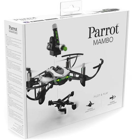 Parrot Mambo Mini Drone With Grabber & Cannon