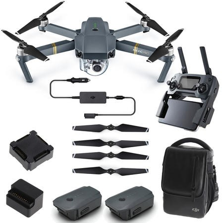 DJI Mavic Pro 4K Foldable Camera Drone Fly More Combo