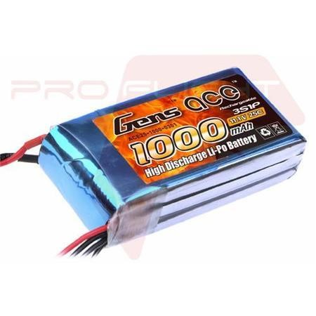 Gens Ace 1000mAh 3S 11.1V 25C LiPo Battery Pack