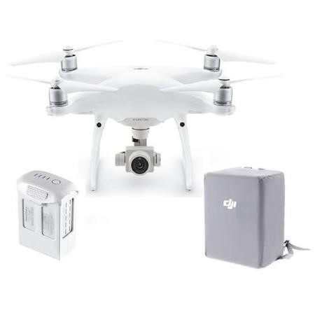 DJI Phantom 4 Advanced with Free Extra Battery & Bag Wrap - Silver