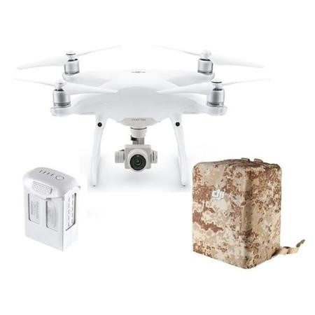 DJI Phantom 4 Advanced with Extra Battery & Camo Yellow Wrap Pack