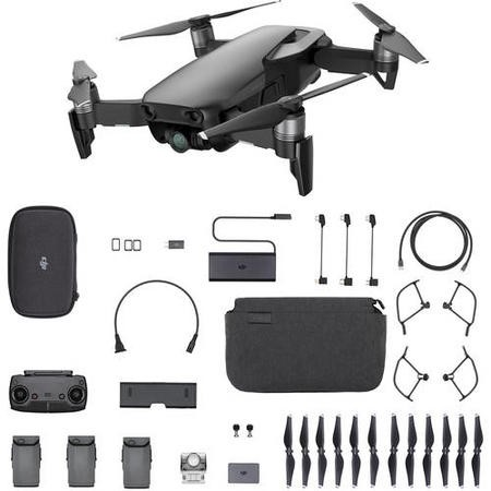 DJI Mavic Air 4K Drone with Fly More Combo - Onyx Black