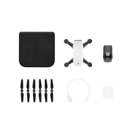 DJI Spark Pocket Sized Drone - Alpine White with Free Soft Shell Case & Free Controller