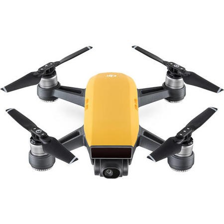 DJI Spark Pocket Sized Selfie Drone - Sunrise Yellow with Free Soft Shell Case