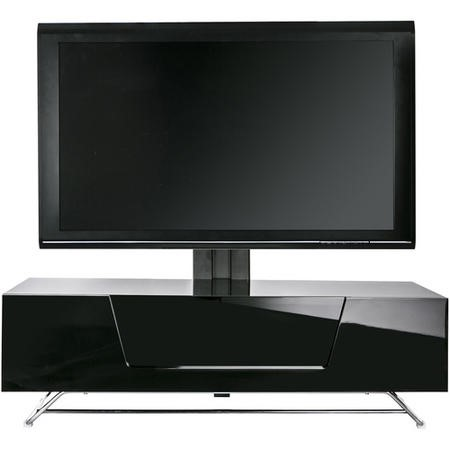 "Alphason CRO2-1200BKT-BK Chromium 2 TV Cabinet with Bracket for up to 50"" TVs - Black"