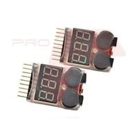Two X2 On Board LiPo Battery Low Voltage Alarm Buzzer 7.4v - 29.6v 2S - 8S