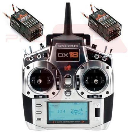 Spektrum DX18 18 Channel Telemetry System & 2 AR9020 Receivers