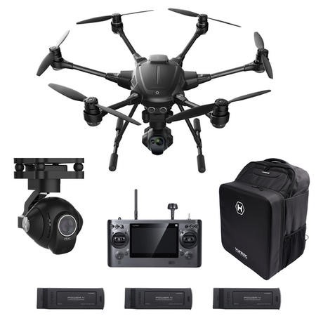 Yuneec Typhoon H Pro Sonar Collision Avoidance Camera Drone With CGOET Thermal Camera GCO3+ 4K Camera Three Batteries & Softshell Backpack