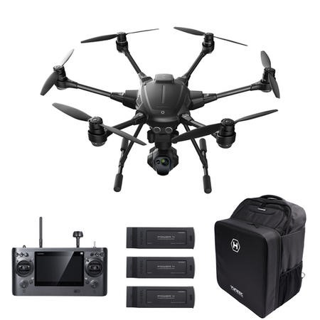 Yuneec Typhoon H Pro Sonar Collision Avoidance Camera Drone With CGOET Thermal Camera Three Batteries & Softshell Backpack