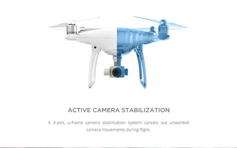 DJI Phantom 4 - Active Camera Stabilization