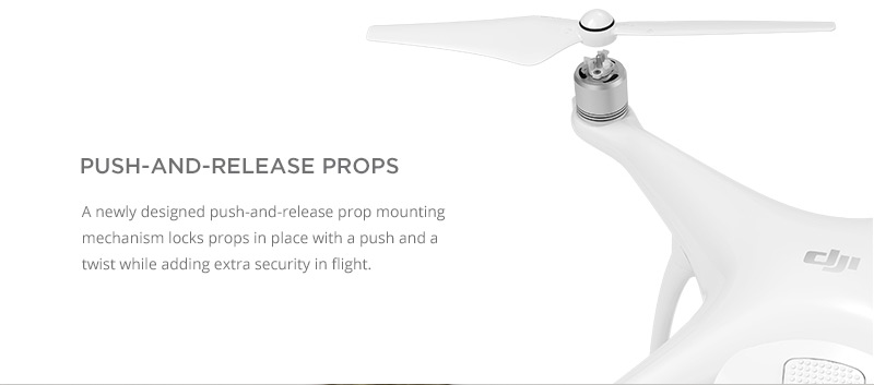 DJI Phantom 4 - Easy Props Release