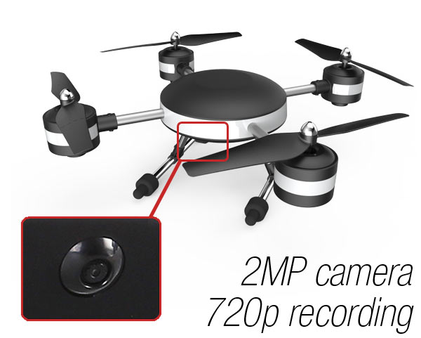 ProFlight UFO 2MP Integrated Camera, 720p Recording