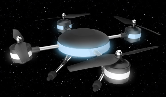 ProFlight UFO drone glowing lights
